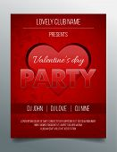 Valentine's day party flyer template - elegant and modern red and black design