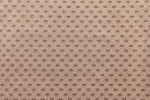 Pale Brown Fabric With Spots Ovals