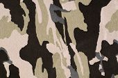 Camouflage pattern on fabric.
