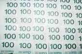 picture of zloty  - 100 zloty banknotes  - JPG