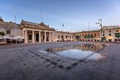Saint George Square And Republic Street In Valletta, Malta