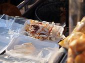 Female Street Vendor Were Selling Dried Squid Grill