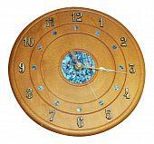 Wooden Clock With Paua Inlay