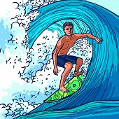 Surfer Man Background