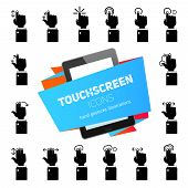 Touch Gestures Icons Black