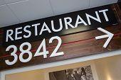 restaurant 3842 sign