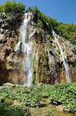 The Bigest Waterfall (veliki Slap) At Pltvice Lakes In Croatia