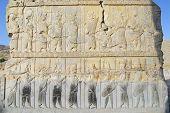 Bas-relief at the ruins of Persepolis, Shiraz, Iran.