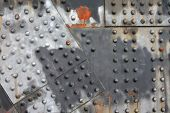 Rivets And Rust Horizontal Industrial Steel Girder Background