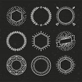 foto of emblem  - Vector set of outline emblems and badges  - JPG