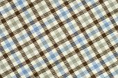 stock photo of asymmetric  - Blue and brown plaid print as background - JPG
