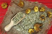 Traditional herbal medicine ingredients.