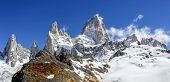 Fitz Roy Mountain Range In Patagonia, Argentina