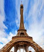 Eiffel Tower -view From The Champs De Mars.paris,france