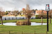 Thorpeness Boating Lake, House And Sign