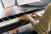 Young Woman Playing The Piano