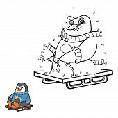 stock photo of sled  - Game for children - JPG