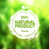 picture of food logo  - Vector artistic stamp label for eco friendly product - JPG