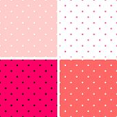 image of color spot black white  - Pastel seamless vector pattern or tile texture set with white and black polka dots on sweet colorful pink - JPG