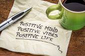 image of handwriting  - positive mind - JPG