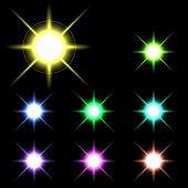 stock photo of starlet  - vector glowing lights - JPG