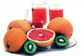 stock photo of pamelo  - fresh fruits - JPG