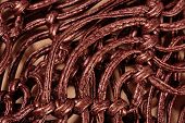 picture of macrame  - Macrame leather belts close up as background - JPG