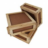 picture of wooden crate  - The image shows three - JPG
