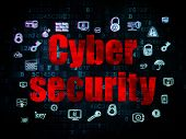 Постер, плакат: Security concept: Cyber Security on Digital background