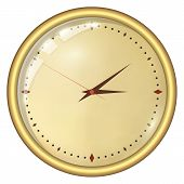stock photo of analogy  - Analog Clock Isolated on a White Background - JPG