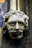 Gargoyle With Overlaid Face