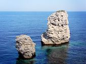 Two Rocks At The Sea