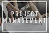 Project Management Manager Managing Business Concept poster