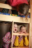 image of bunk-bed  - happy children in child - JPG