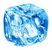 picture of ice cube  - Close up view of the ice cubes in water - JPG