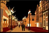 Night Urban Scene - Vector