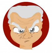 Expressions Icon: Angry - Vector