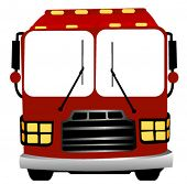 Red Bus - Vector
