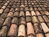 weather-beaten roof tiles