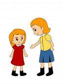 Kids Argueing - Vector