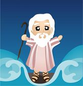 Moses dividing the Sea - Vector