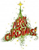 pic of merry christmas text  - Christmas Tree  - JPG