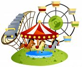Amusement Park - Vector