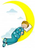 Boy Sleeping - Vector