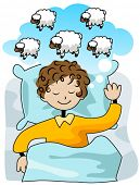 stock photo of counting sheep  - Counting Sheep  - JPG