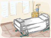 Hospital Room - Vector