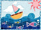 Hippie Sea - Vector