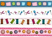 Sewing Border Set - Vector