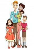 Multiracial Family - Vector