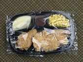 Tv Dinner - Uncooked With Plastic